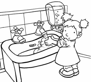 Coloring-Pages-For-Hand-Washing